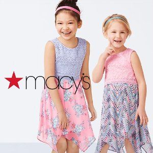 Extra 25% off Macy's Baby and Kids' Clearance Apparel from$2.25