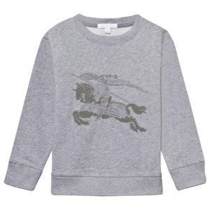 Burberry Grey Melange Cavallier Embroidered Sweatshirt | AlexandAlexa
