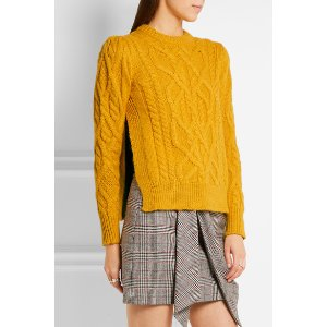 Isabel Marant | Gayle cable-knit alpaca-blend sweater | NET-A-PORTER.COM