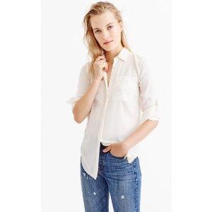 Silk pocket blouse