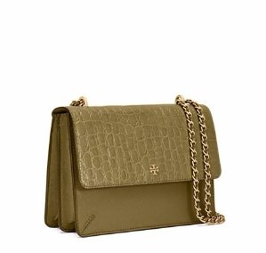 ROBINSON CROC-EMBOSSED CONVERTIBLE SHOULDER BAG
