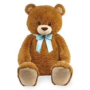 Start! 2016 Black Friday! $19.99 Toys R Us Animal Alley 42 inch Stuffed Bear with Bow - Brown