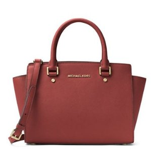 MICHAEL Michael Kors Selma Leather Medium Zip Satchel @Lord & Taylor