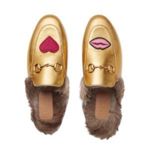 Gucci Princetown Lips & Fur Mule | Kirna Zabete