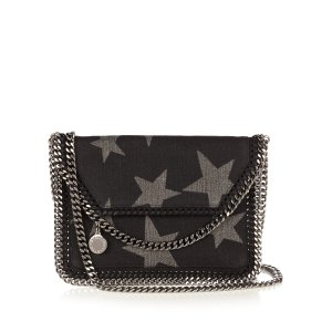 Falabella star-print denim pouch | Stella McCartney