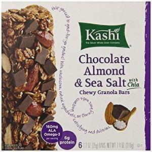 $1.13Kashi Chewy Granola Bars, Chocolate Almond and Sea Salt with Chia, 7.4 oz