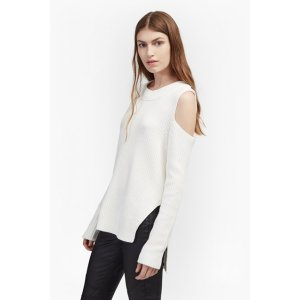 Cold Shoulder Cotton Jumper | Sweaters Sweats | French Connection Usa