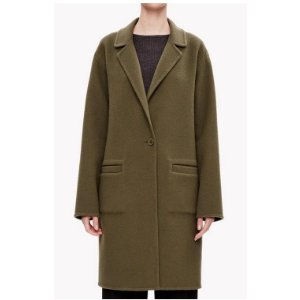 Double-Face Wool-Cashmere Unconstructed Coat