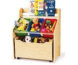 Tot Tutors 3-Tier Storage Unit with Rollout Toy Box - Walmart.com
