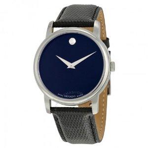 Movado Classic Museum Dark Navy Dial Men's Watch 2100007 - Museum - Movado - Watches - Jomashop