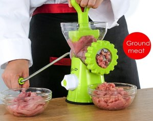 Deik Manual Kitchen Meat Grinder Hand Crank Mincer and Pasta Maker