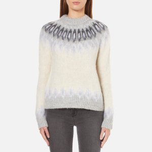 Samsoe & Samsoe Women's Vaga O Neck Jumper - Clear Cream - Free UK Delivery over £50