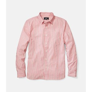 Grant End On End Dobby Stripe Point Collar Shirt - JackSpade