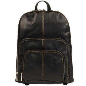 Wilsons Leather Three Pocket Leather Backpack
