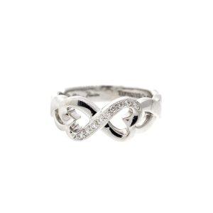 Tiffany & Co. 18k White Gold Diamond Infinity Ring | Tiffany & Co. | Buy at TrueFacet