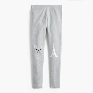 Girls' Everyday Leggings With Frenchie Knee Patches : Girls' Leggings   J.Crew