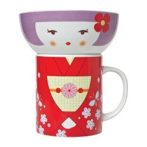 Miya Company Red Kimono Bowl & Mug Set | zulily