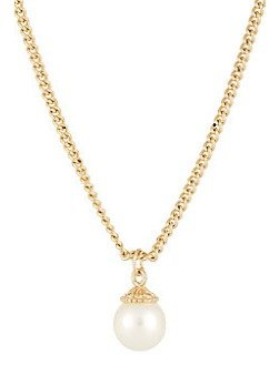 JULES SMITH Pearl-Bead Pendant Necklace