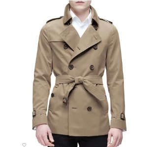 Burberry London The Kensington - Mid-Length Heritage Trench Coat, Honey