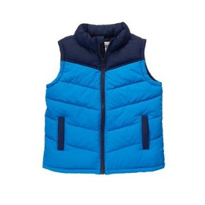 Boys Laser Blue Puffer Vest by Gymboree