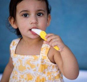 $5.13 Baby Banana Bendable Training Toothbrush, Toddler