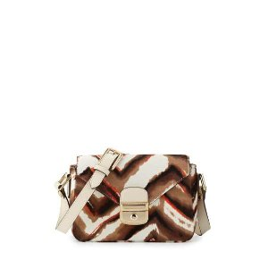Longchamp Le Pliage H�ritage Luxe Small Calf-Hair Crossbody Bag, Camel