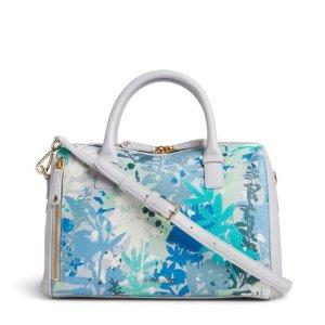 Vera Bradley Leather Marlo Satchel Bag in Camofloral Gray   eBay