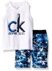 From $9.59 Calvin Klein Little Boys' 2 Piece Swim Set Tank Top and Printed Swim Short