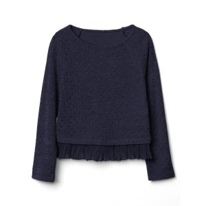 Shimmer ruffle-trim pullover | Gap