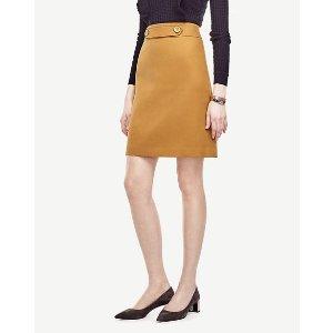 Button Tab Skirt | Ann Taylor