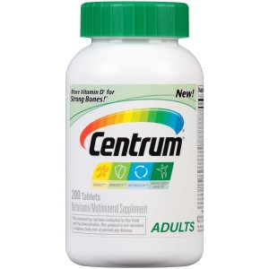 $9.49 Centrum Adult Multivitamin/Multimineral Supplement (200-Count Tablets)
