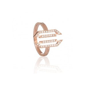 Rose Gold Block Cocktail Ring