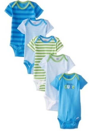 Gerber Baby Boys' 5 Pack Variety Bodysuits