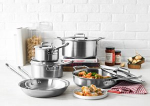 30% Off All-Clad BD5 Brushed Stainless Steel 10-Pc Cookware Set