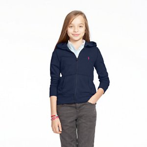 French Terry Full-Zip Hoodie - Sweaters � Girls' 7-16 - RalphLauren.com