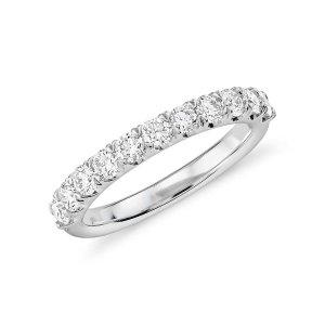 Pavé Diamond Ring in 18k White Gold