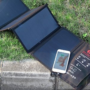 1byone 24W Foldable Solar Charger with 2 USB Ports