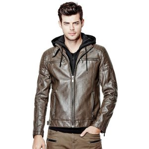 Dorran Faux-Leather Moto Jacket | GuessFactory.com