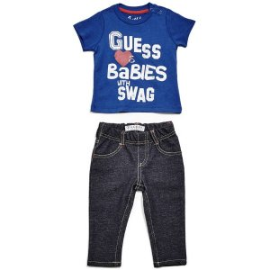 Graphic Tee and Jeans Set (0-24m) | GUESS.com