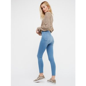 Easy Goes It Denim Legging at Free People Clothing Boutique