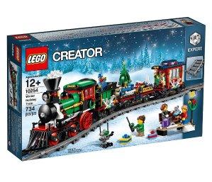 最新Lego乐高套装发售圣诞礼物好选择!冬季假日火车积木套装--->遥控调速电动火车!