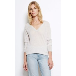 Women's ASHER V-NECK LIGHTWEIGHT SWEATER made of Silk | Women's Private Sale by Equipment