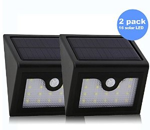 2 X Liwithpro LED Solar Waterproof Motion Sensor Lights
