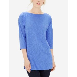 Soft Boat Neck Tunic | Lounge Boat Neck Top | THE LIMITED