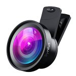 Syntus 0.45X Wide Lens and 12.5X Macro Lens Attachment Clip-on Cell Phone Camera Lenses Kit