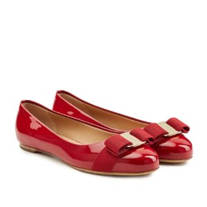 Varina Patent Leather Ballet Flats from SALVATORE FERRAGAMO