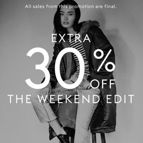 Extra 30% Off + Up to 75% OffMaje, Sandro & More Designer @ THE OUTNET