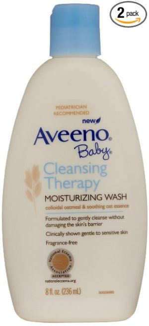 $6.82 + Free Shipping Aveeno Baby Cleansing Therapy Moisturizing Wash, 8 Ounce (Pack of 2)