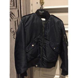 (2) blue Plain SAINT LAURENT Biker jacket - Vestiaire Collective