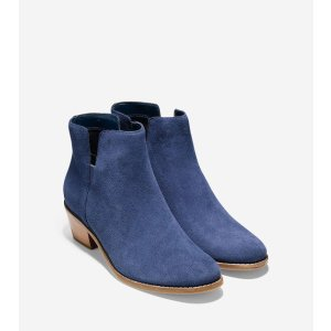 Abbot Booties 45mm in Blazer Blue Suede | Cole Haan